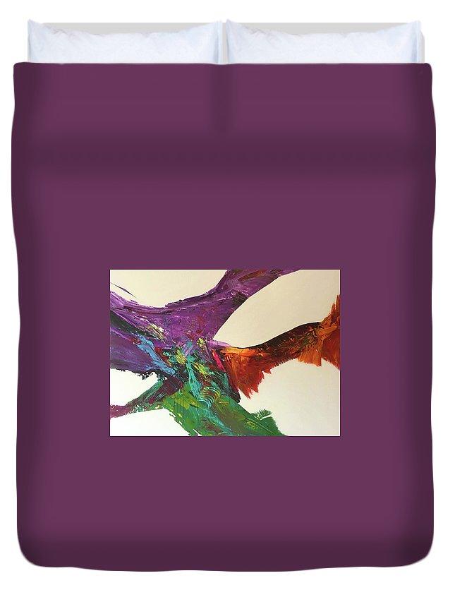 Fluid Abstract Painting John Cammarano Duvet Cover featuring the painting Fluid#1.2 by John Cammarano