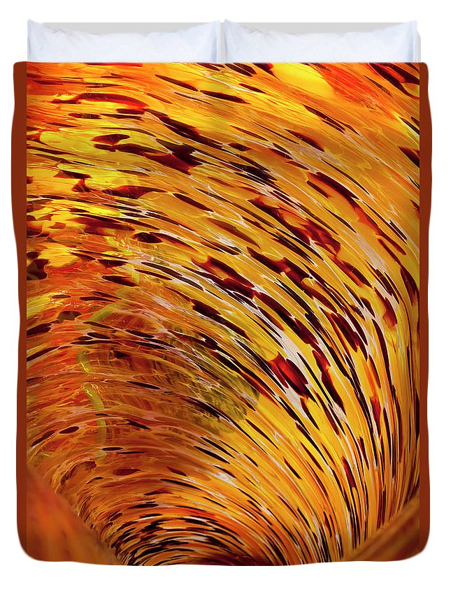 Blown Glass Duvet Cover featuring the photograph Flushed by Janet Fikar