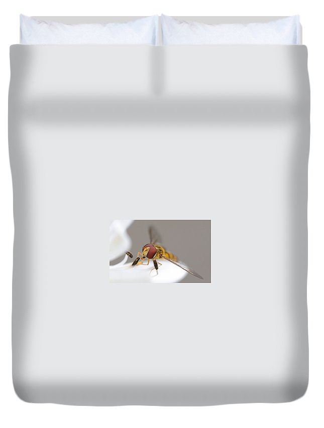Fly Duvet Cover featuring the digital art Fly by Dorothy Binder