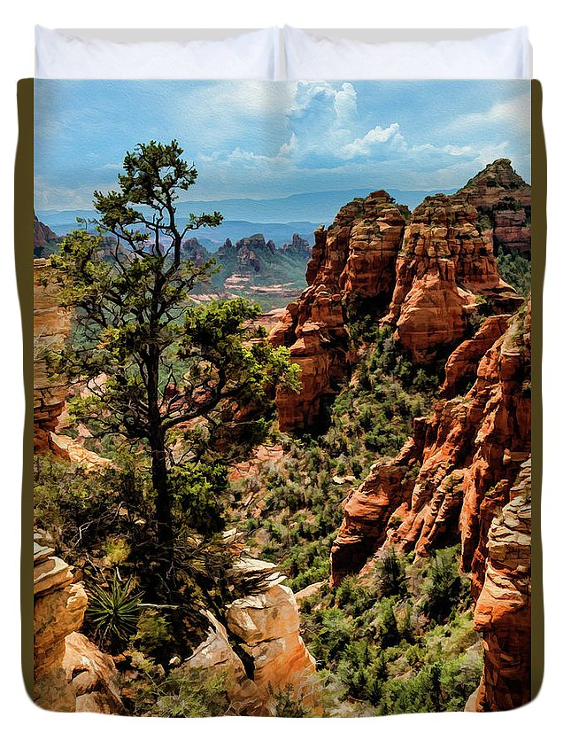 Arizona Duvet Cover featuring the photograph Flying Buttress 04-091 by Scott McAllister