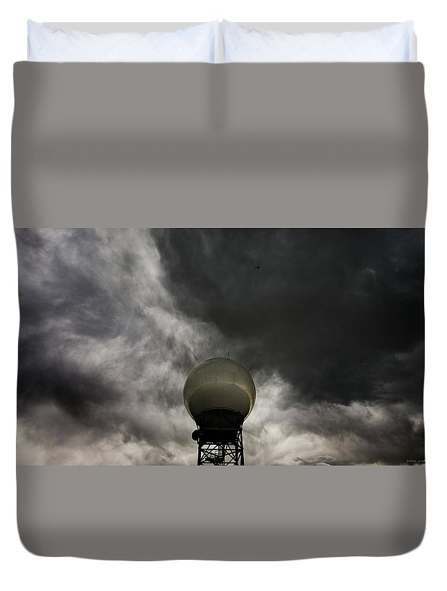 Nexrad Duvet Cover featuring the photograph Flying The Friendly Skies by Brian Gustafson