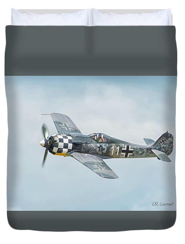 Focke-wulf Duvet Cover featuring the photograph Focke-wulf Fw190 by CR Courson