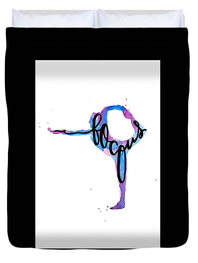 Duvet Cover featuring the painting Focus Yoga 24 X 36 by Michelle Eshleman