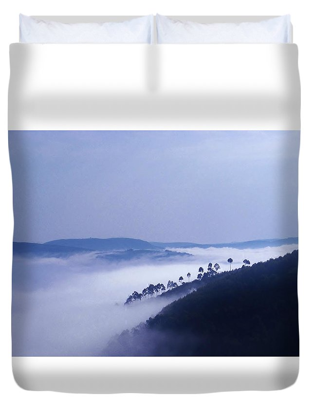 Africa Duvet Cover featuring the photograph Fog Blankets The Rift Valley by Deb Zulawski