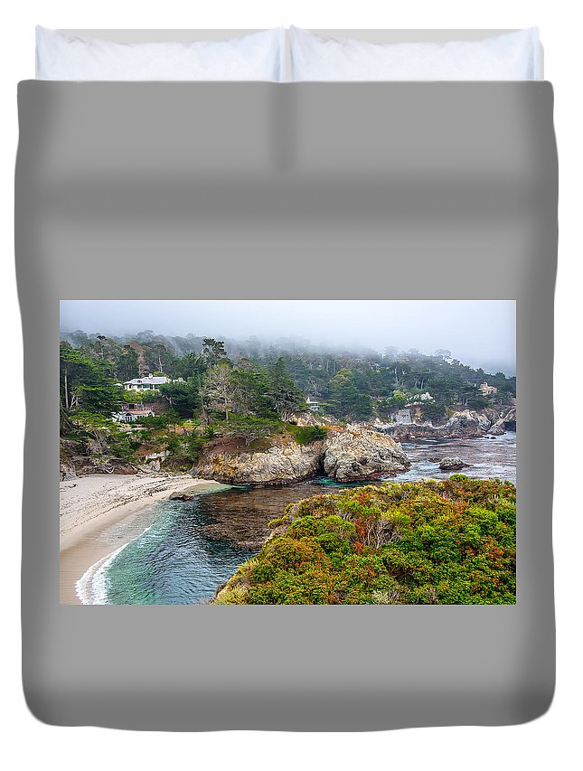 Duvet Cover featuring the photograph Fog On The Beach by Patrick Boening