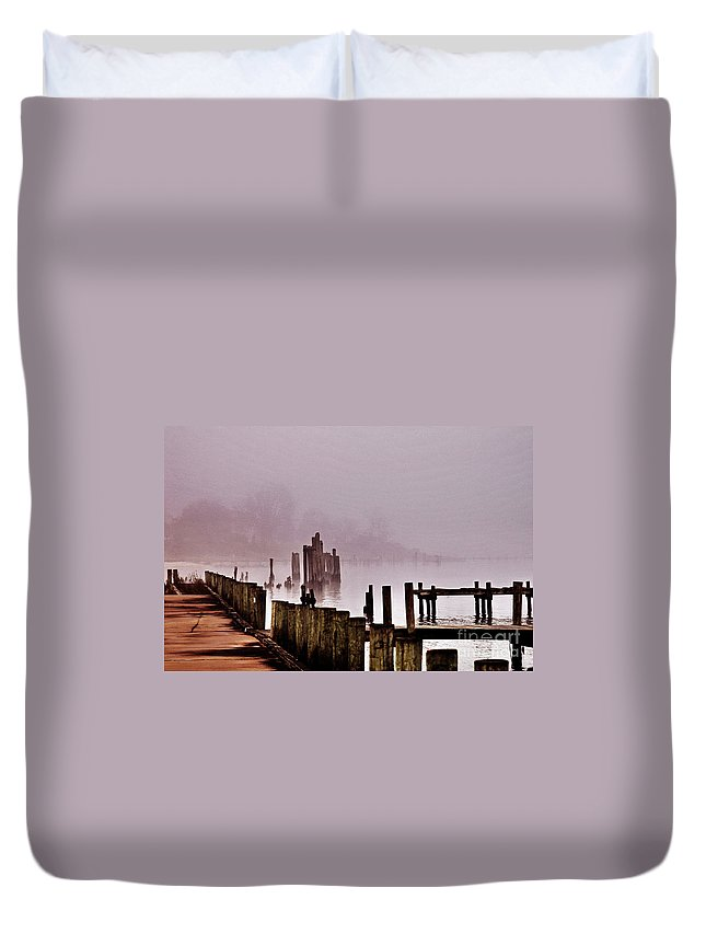 Clay Duvet Cover featuring the photograph Foggy Morn by Clayton Bruster
