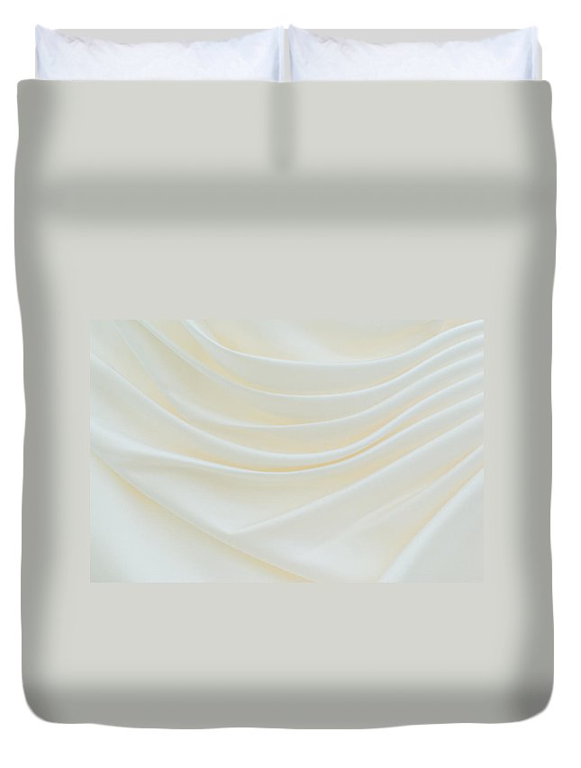 Dress Duvet Cover featuring the photograph Folded Fabric Waves by Meirion Matthias