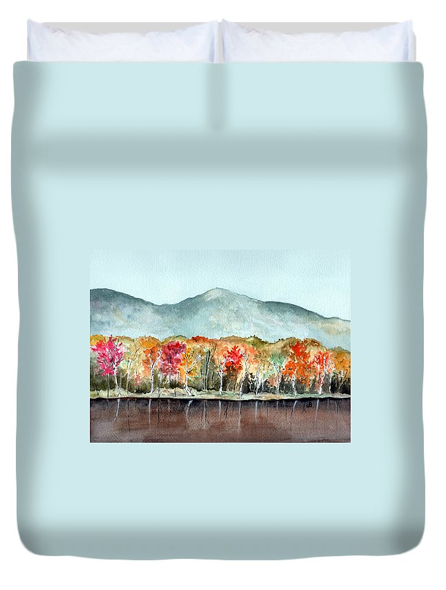 Watercolor Duvet Cover featuring the painting Foliage by Brenda Owen