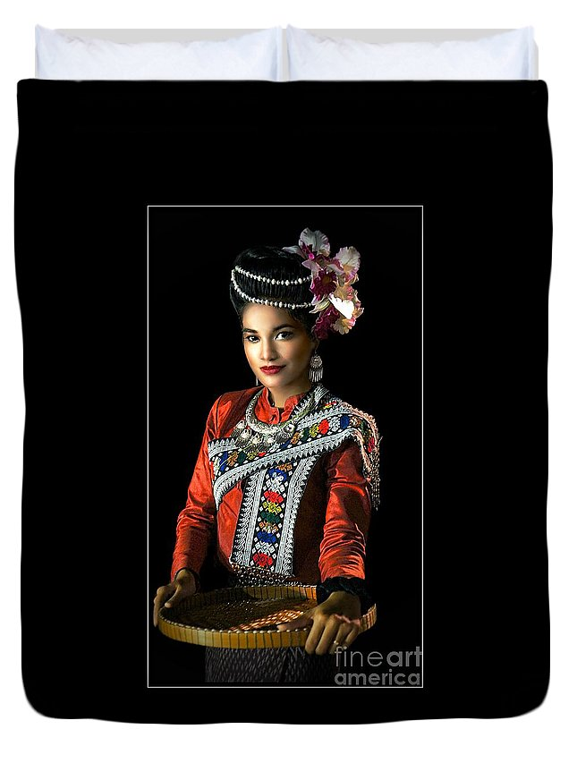 Fashion Duvet Cover featuring the photograph Folk Dancer Of The North East by Ian Gledhill