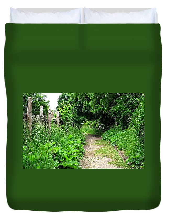 Path Duvet Cover featuring the photograph Follow by Ian MacDonald