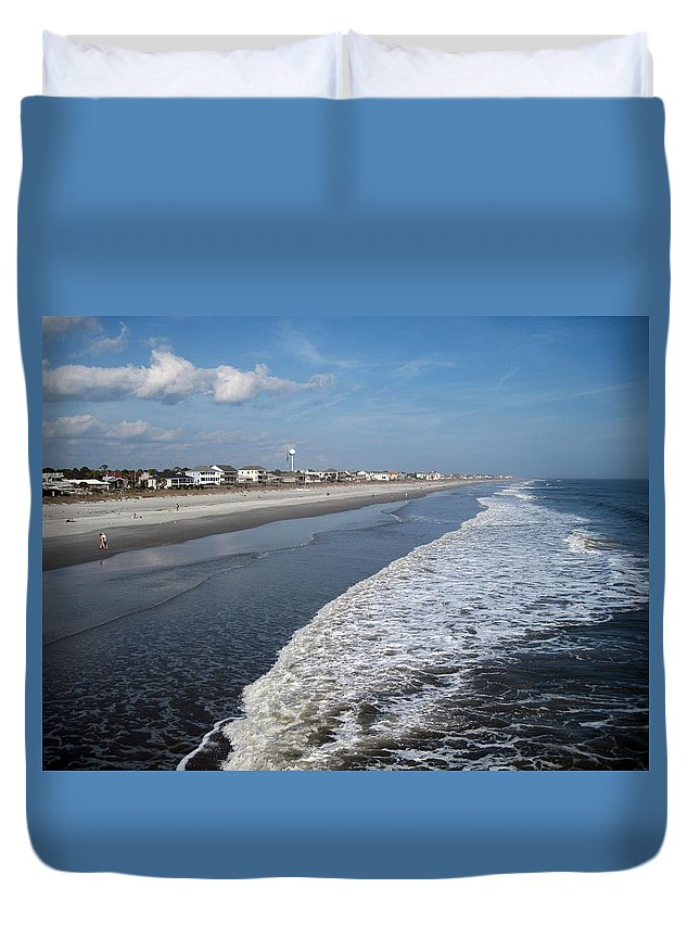 Photography Duvet Cover featuring the photograph Folly Beach Charleston Sc by Susanne Van Hulst