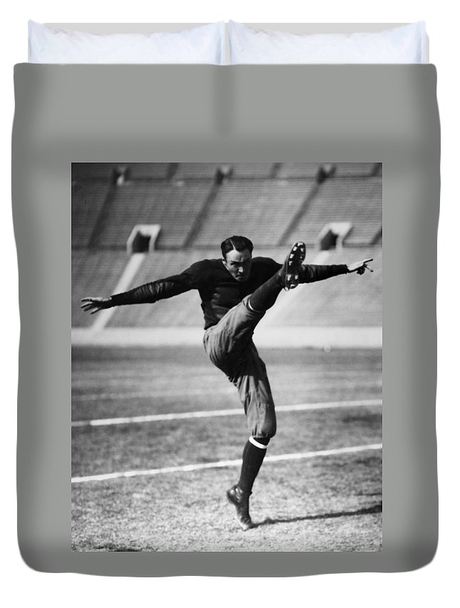 20th Century Duvet Cover featuring the photograph Football, 20th Century by Granger