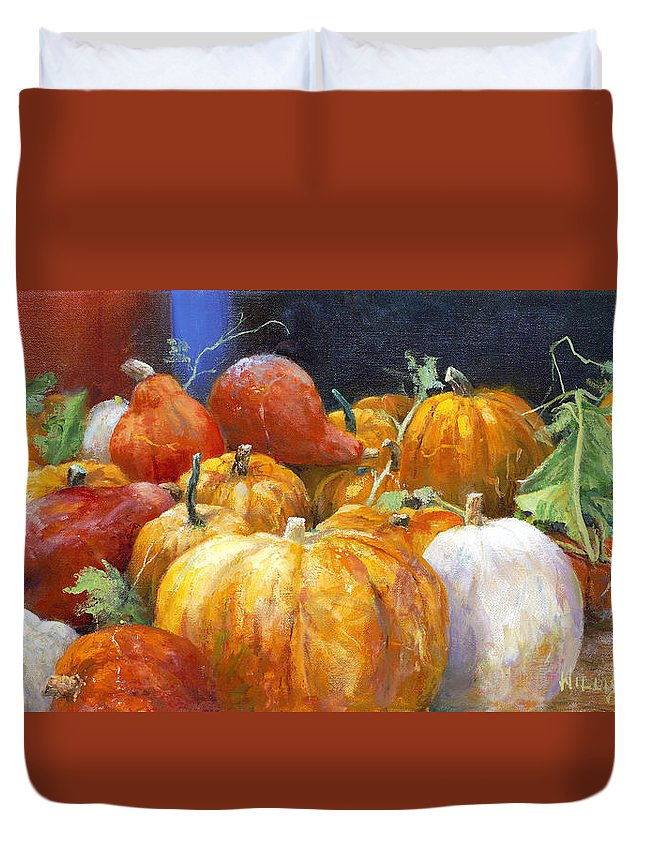 Still Life Duvet Cover featuring the painting For A Thousand by Willis Miller