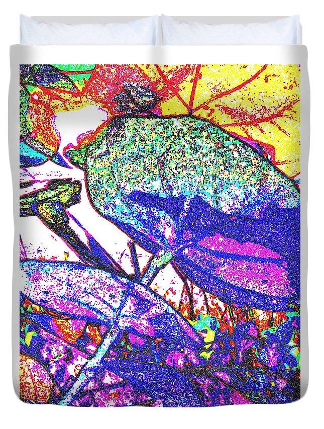 Sun Duvet Cover featuring the digital art For Sun Lovers by Ian MacDonald