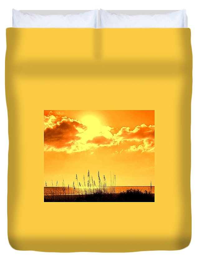 Sun Duvet Cover featuring the photograph For When Winter Gets To You by Ian MacDonald