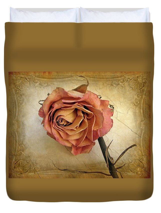 Flower Duvet Cover featuring the photograph For You by Jessica Jenney