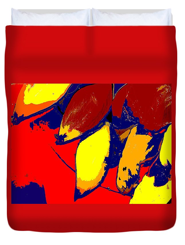 Red Duvet Cover featuring the photograph Forbidden Fruit by Ian MacDonald
