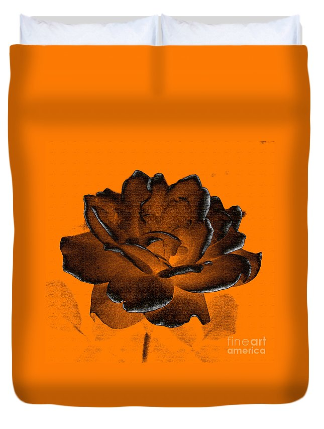 Rose Duvet Cover featuring the photograph Forced Into Shape by Amanda Barcon