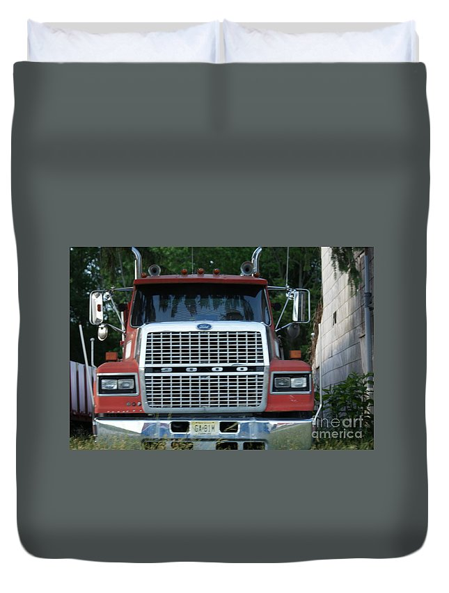 Ford Duvet Cover featuring the photograph Ford 9000 Power And Confort... by Rob Luzier