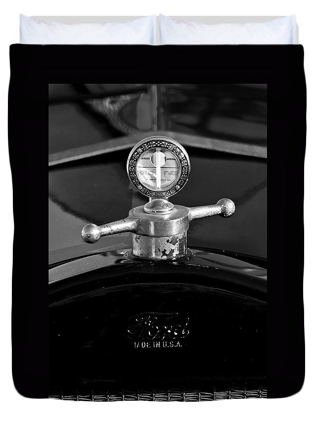 Ford Duvet Cover featuring the photograph Ford Boyce Motometer by Jill Reger
