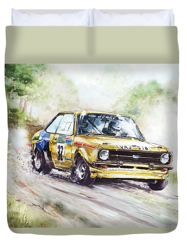 Ford Escort Mk2 Rally Car Duvet Cover for Sale by Geoff Latter