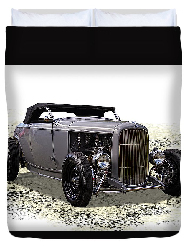 Ford Duvet Cover featuring the photograph Ford Hot Rod Roadster by Nick Gray
