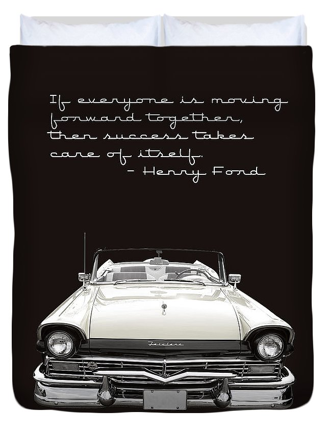 Ford Duvet Cover featuring the photograph Ford Success Poster by Edward Fielding