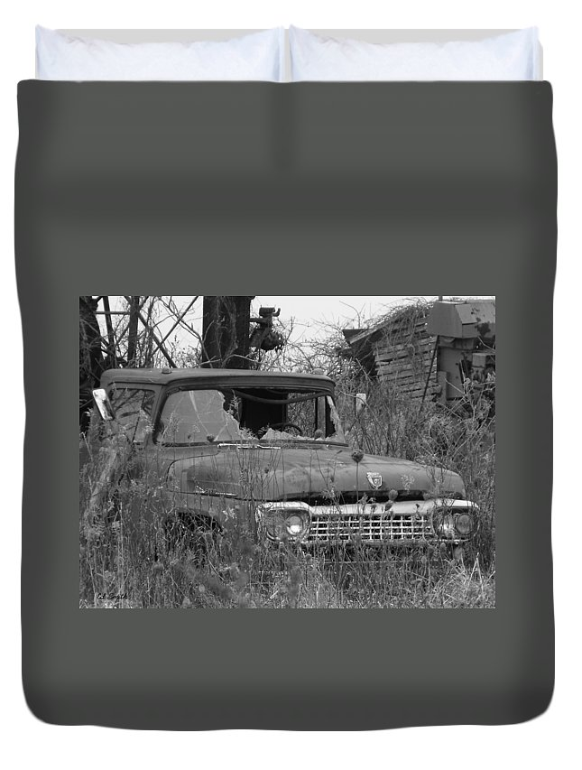Ford Tough Duvet Cover featuring the photograph Ford Tough by Ed Smith