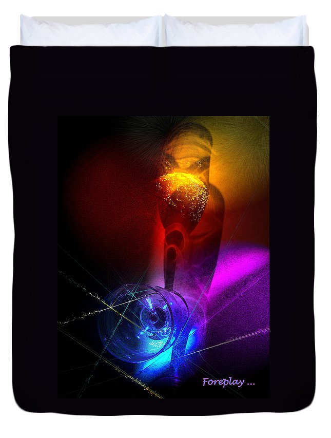 Fantasy Duvet Cover featuring the photograph Foreplay by Miki De Goodaboom