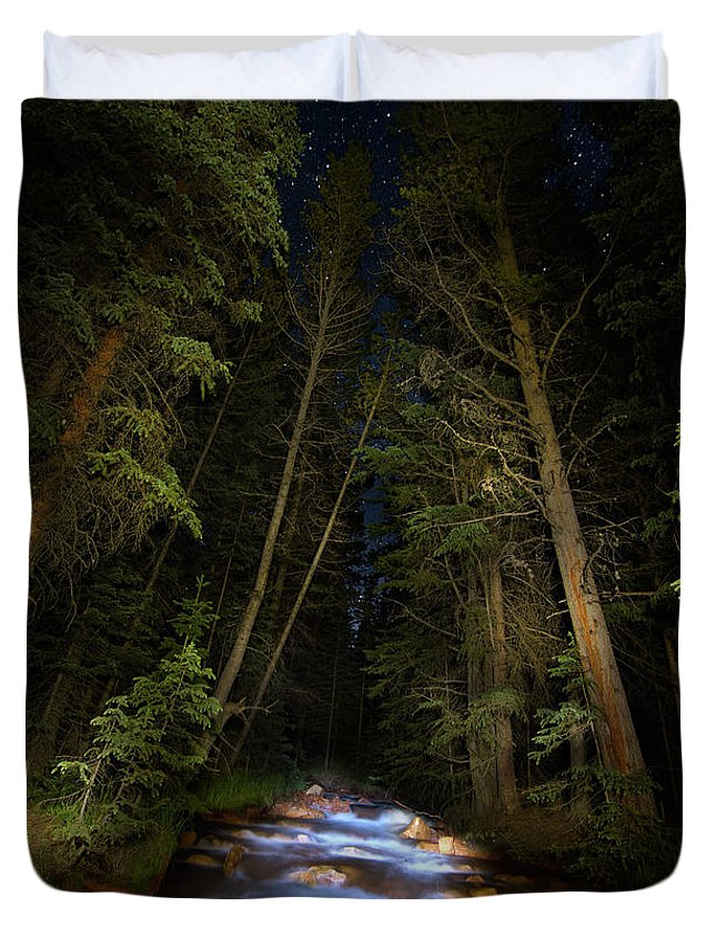 Colorado Duvet Cover featuring the photograph Forest Creek by Mark Andrew Thomas