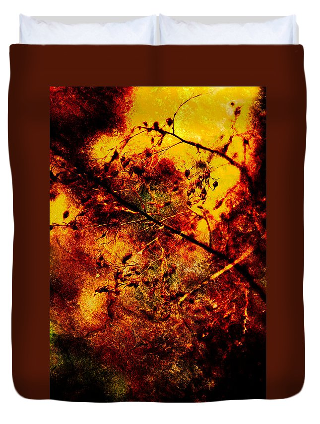 Fire Duvet Cover featuring the photograph Forest Fire by Onyonet Photo Studios