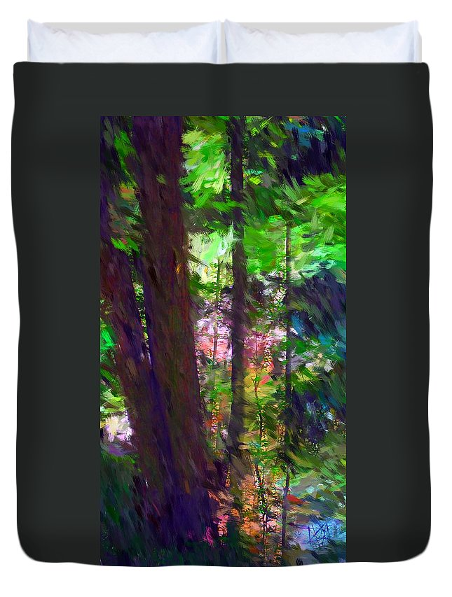 Digital Photography Duvet Cover featuring the digital art Forest For The Trees by David Lane