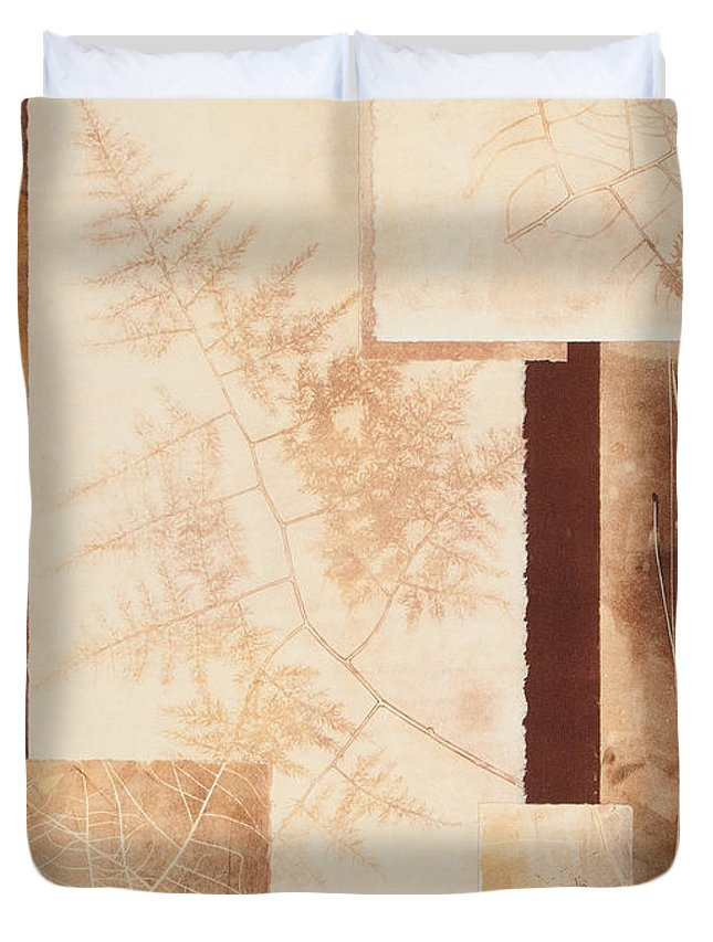 Forest Imprints Duvet Cover featuring the painting Forest Imprints by Pam Smyth