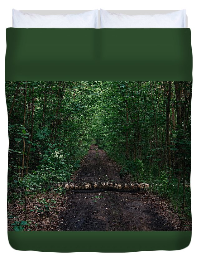 Forest Duvet Cover featuring the photograph Forest Life by Arkady A