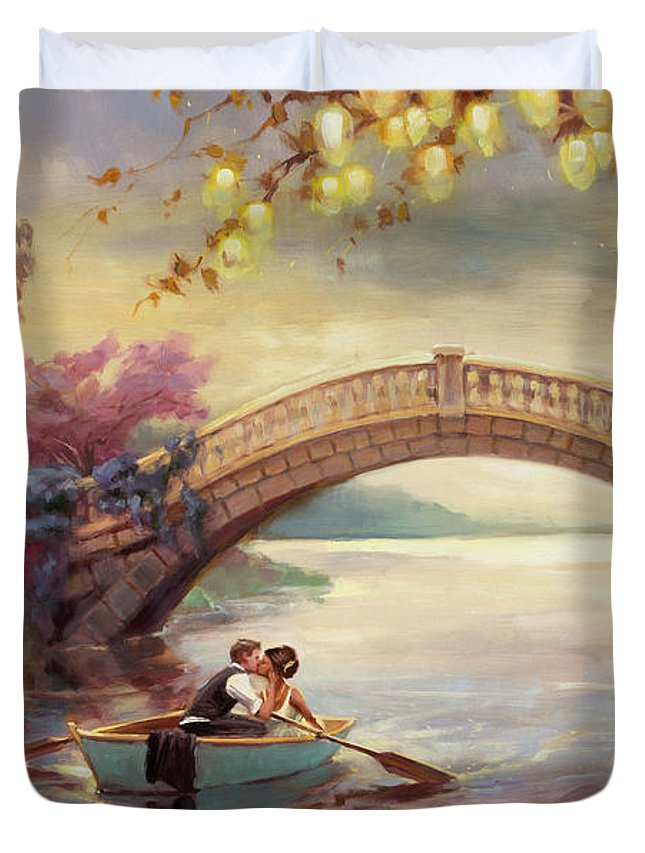 Romance Duvet Cover featuring the painting Forever Yours by Steve Henderson
