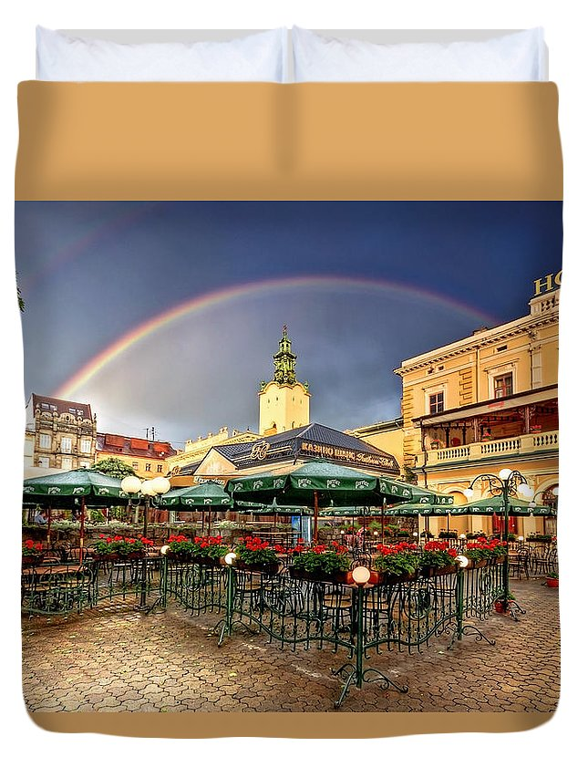 Ukraine Duvet Cover featuring the photograph Forget Me Not by Evelina Kremsdorf