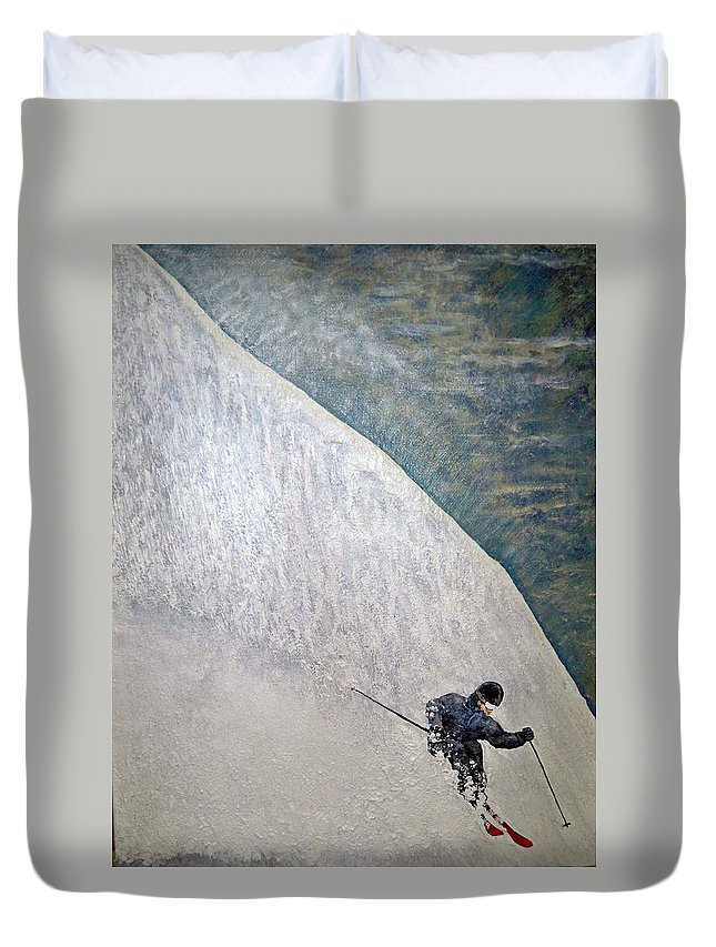 Landscape Duvet Cover featuring the painting Form by Michael Cuozzo
