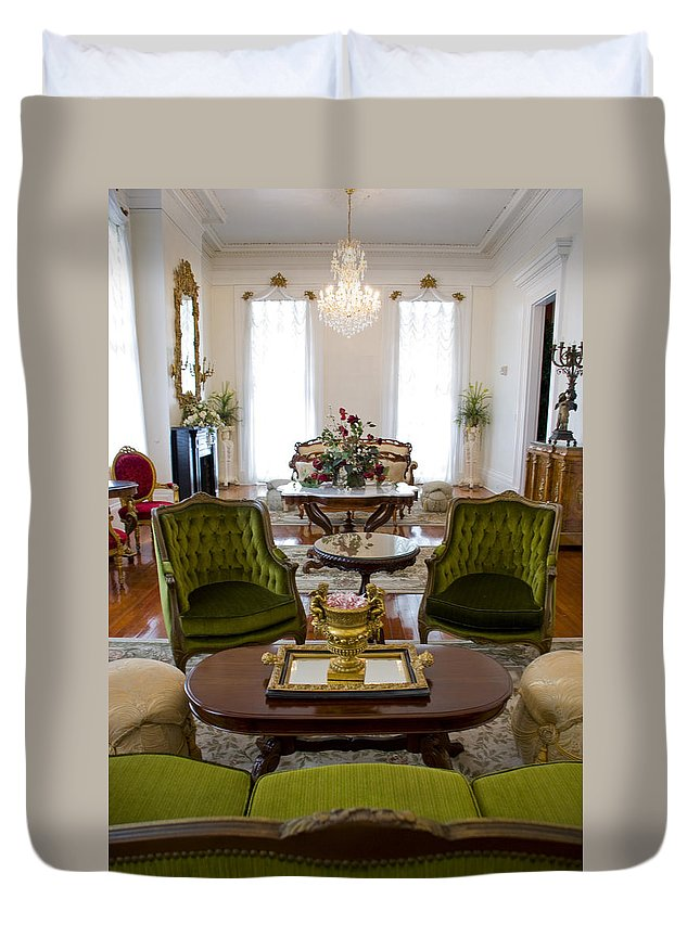 Mansion Duvet Cover featuring the photograph Formal Dining Room by Jennifer Kelly