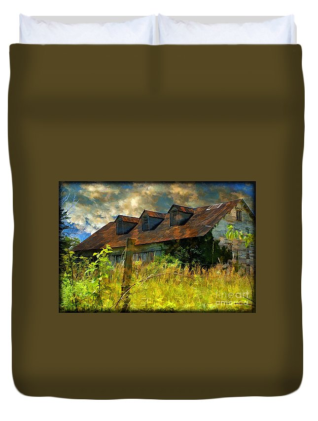 Barn Duvet Cover featuring the photograph Former Glory by Lois Bryan