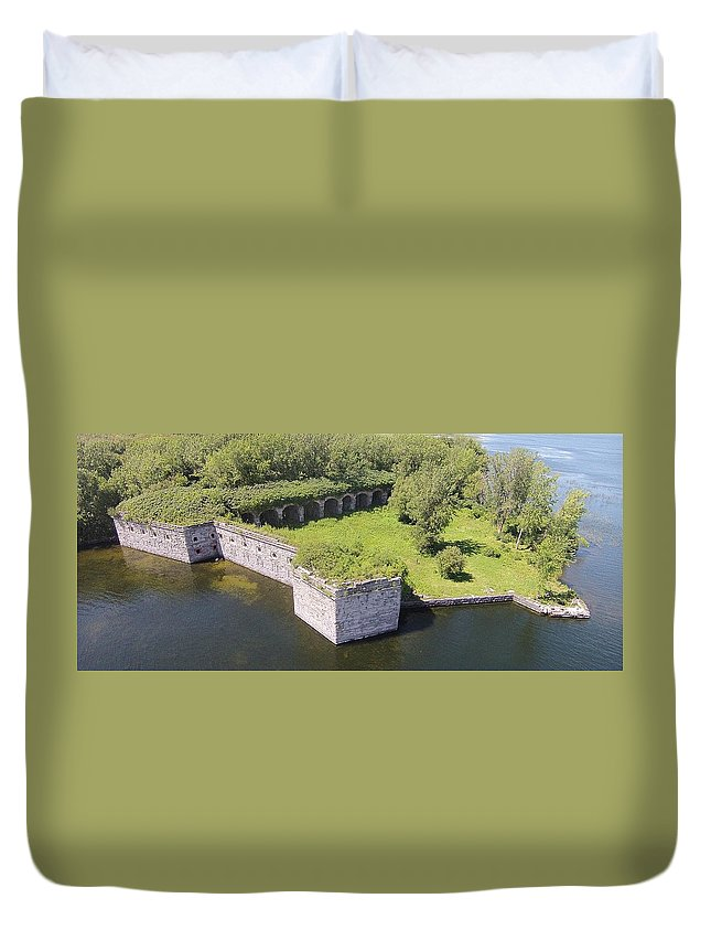 Fort Duvet Cover featuring the photograph Fort Montgomery by Jedidiah Thone