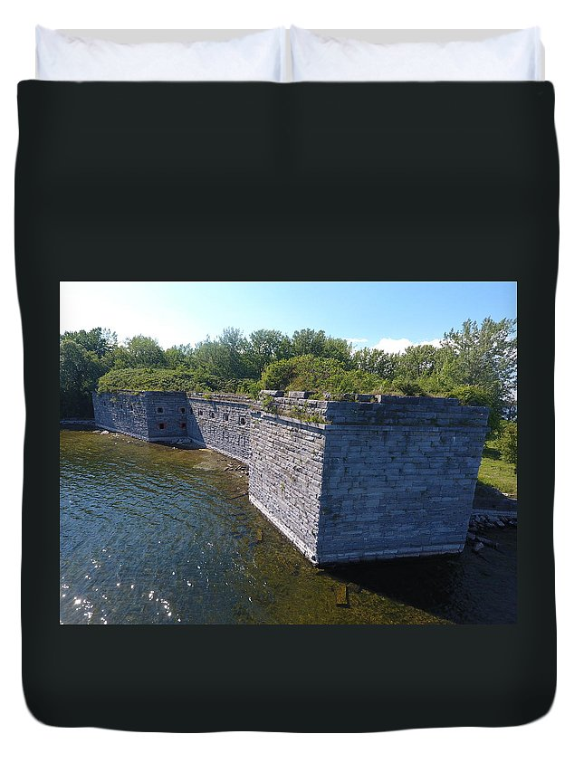 Fort Duvet Cover featuring the photograph Fort Montgomery Close by Jedidiah Thone
