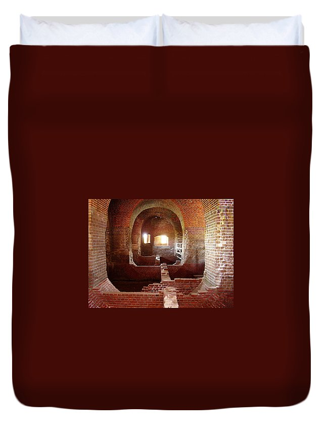 Fort Pulaski Duvet Cover featuring the photograph Fort Pulaski I by Flavia Westerwelle
