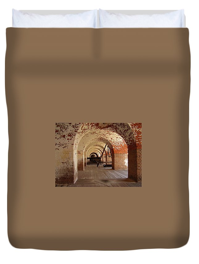 Fort Pulaski Duvet Cover featuring the photograph Fort Pulaski II by Flavia Westerwelle