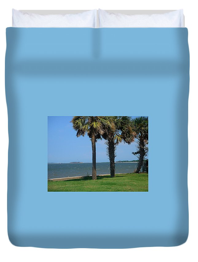 Photography Duvet Cover featuring the photograph Fort Sumter Charleston Sc by Susanne Van Hulst