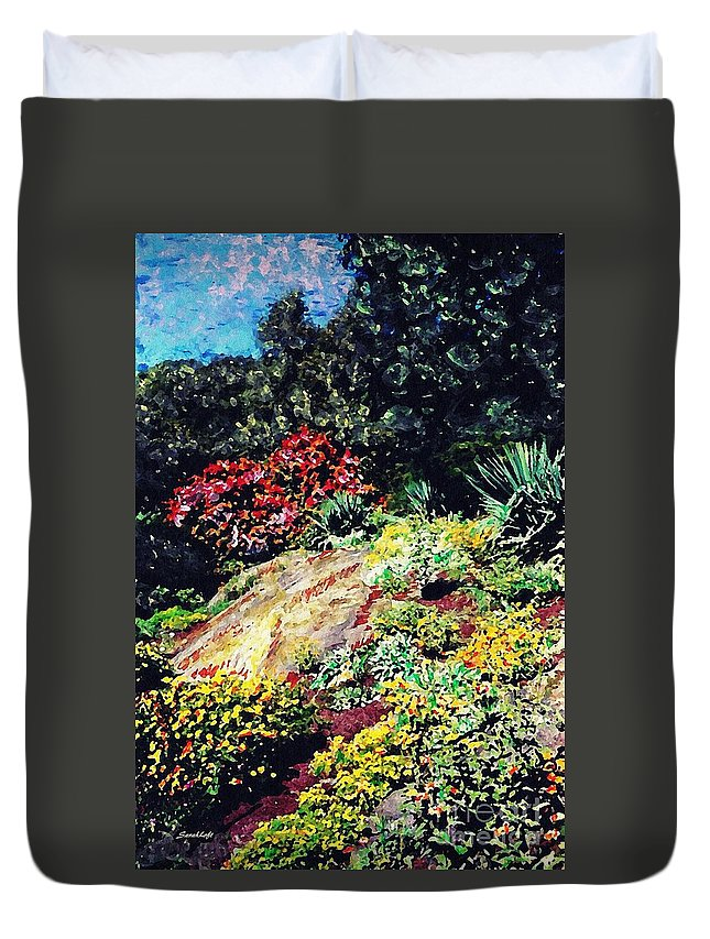Garden Duvet Cover featuring the photograph Fort Tryon Park by Sarah Loft