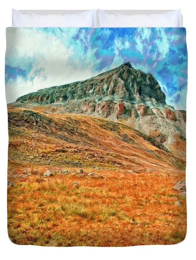 Fortress Duvet Cover featuring the painting Fortress by Dominic Piperata