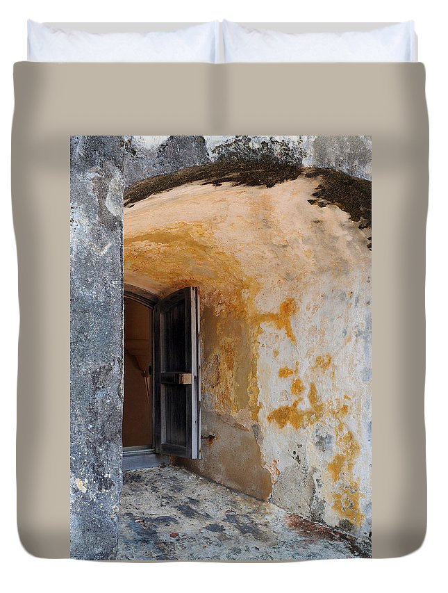 Fortress Duvet Cover featuring the photograph Fortress Window by Stephen Anderson