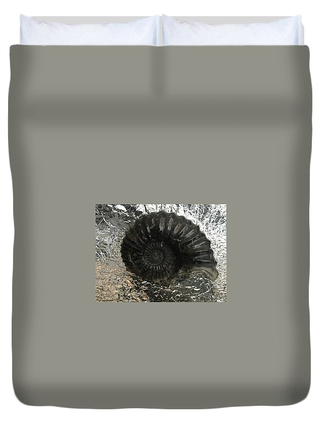 Fossil Duvet Cover featuring the photograph Fossil 91,000,000 Years by Rodrigo Maldonado