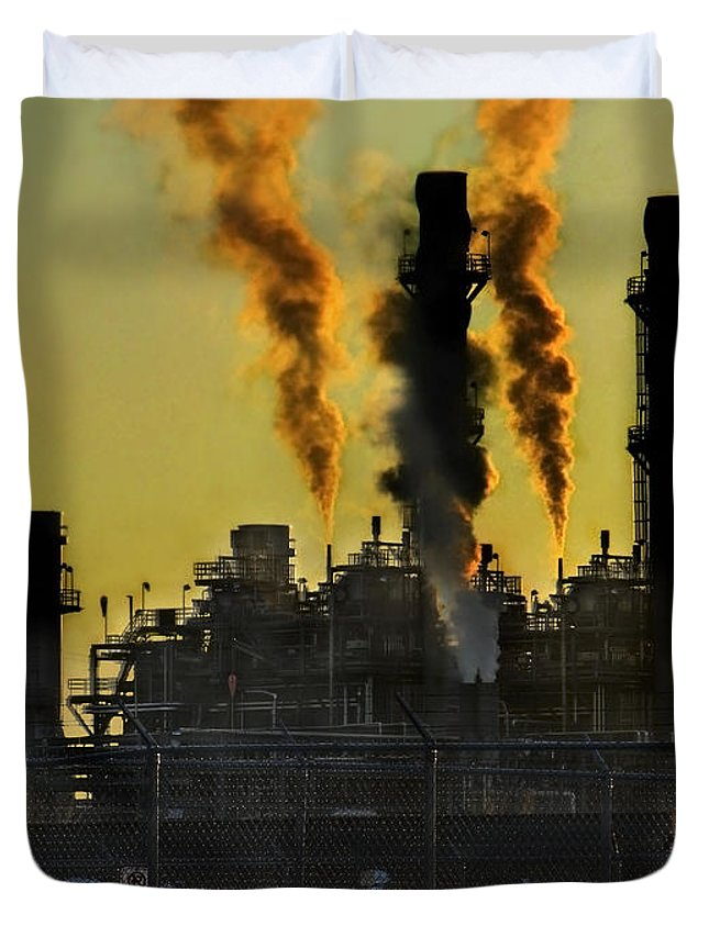Smoke Duvet Cover featuring the photograph Fossil Fuels by Jeffery Ball