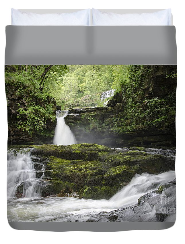 Waterfall Duvet Cover featuring the photograph Four Falls Walk Waterfall 5 by Steev Stamford